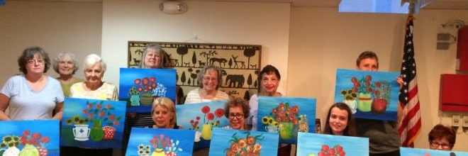 August Painting Nights With Resident Artist Patricia Hubinger at Nitschke House